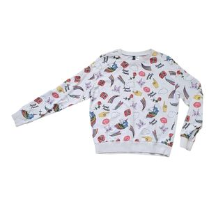 H&M Divided Medium Sweater Fun Prints